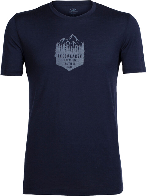 Icebreaker Tech Lite SS Crewe Shirt Men high mtn crest midnight navy